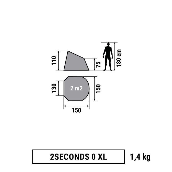 Schuiltentje 2 Seconds 0 XL UPF 30 groen