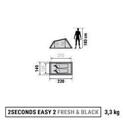 2 Seconds Fresh&Black 2-Person Camping Tent - White