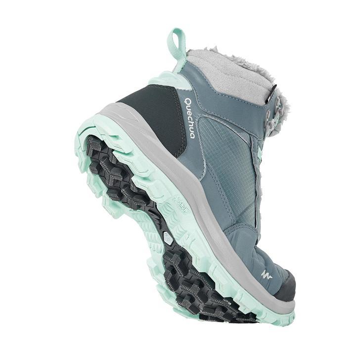 Chaussures de randonnée neige femme SH520 x-warm mid gris-vert