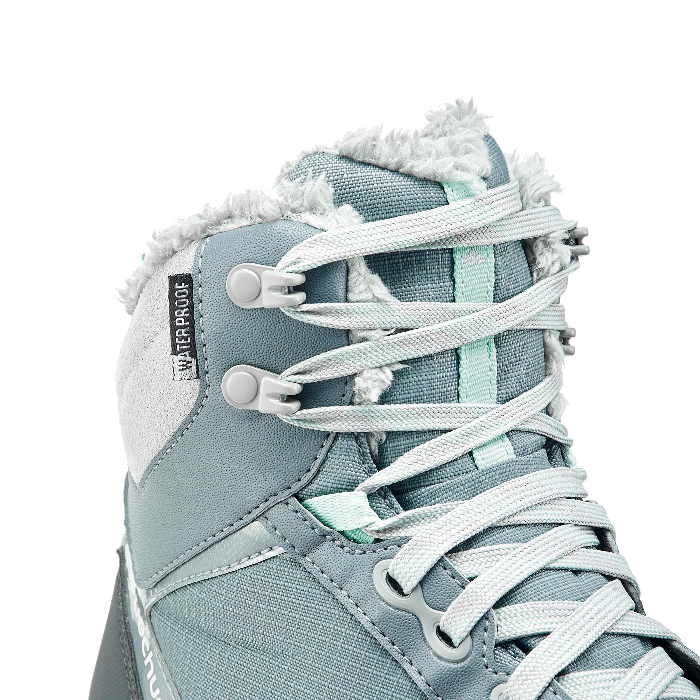 Chaussures de randonnée neige femme SH520 x-warm mi-hauteur bleu