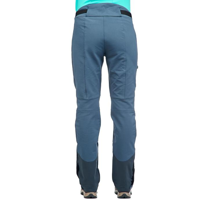 Pantalón de senderismo nieve mujer SH500 x-warm stretch china-azul