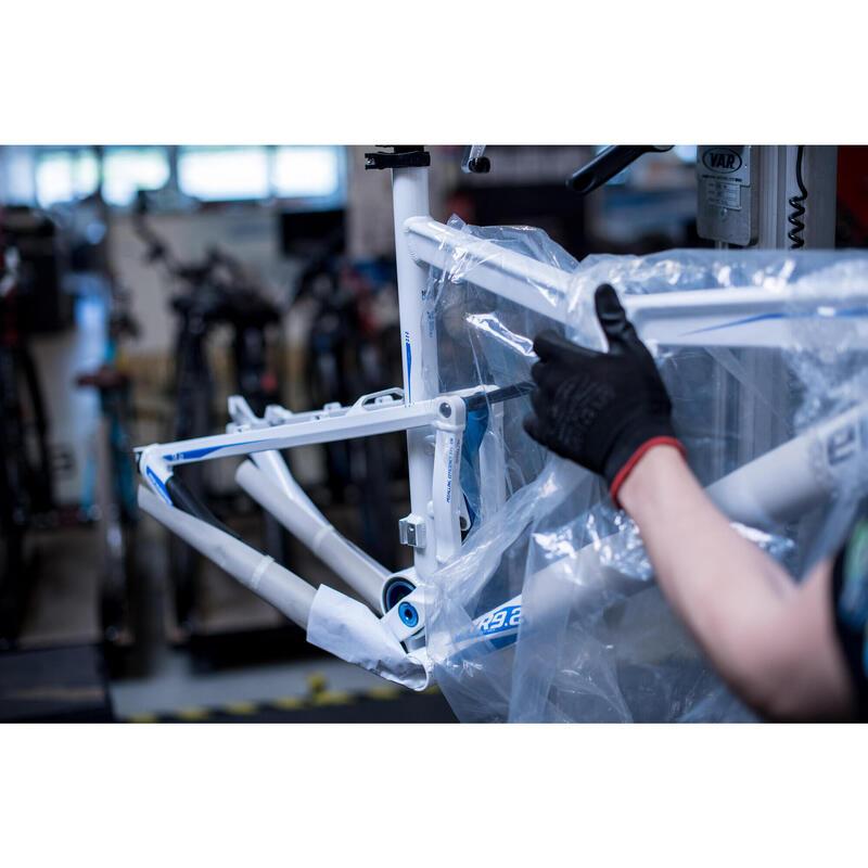 Réparation cadre vélo en magasin
