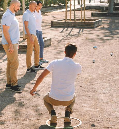 Använd tävlingsklot för att spela i bouleklubb eller med vänner
