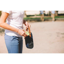 Halfstijf draagtasje voor 3 petanqueballen beige