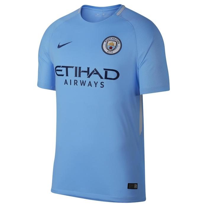 Voetbalshirt Manchester City thuisshirt 17/18 voor volwassenen blauw - 1212348