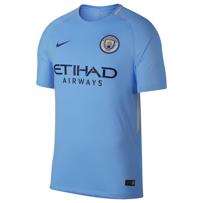 Voetbalshirt Manchester City thuisshirt 17/18 voor kinderen blauw - 1212352