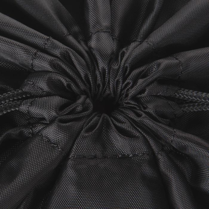 Sac chaussure fitness pliable noir et rose