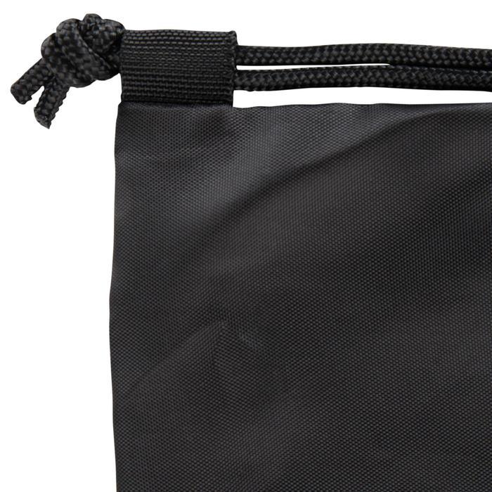 Bolsa calzado fitness plegable negro y rosa