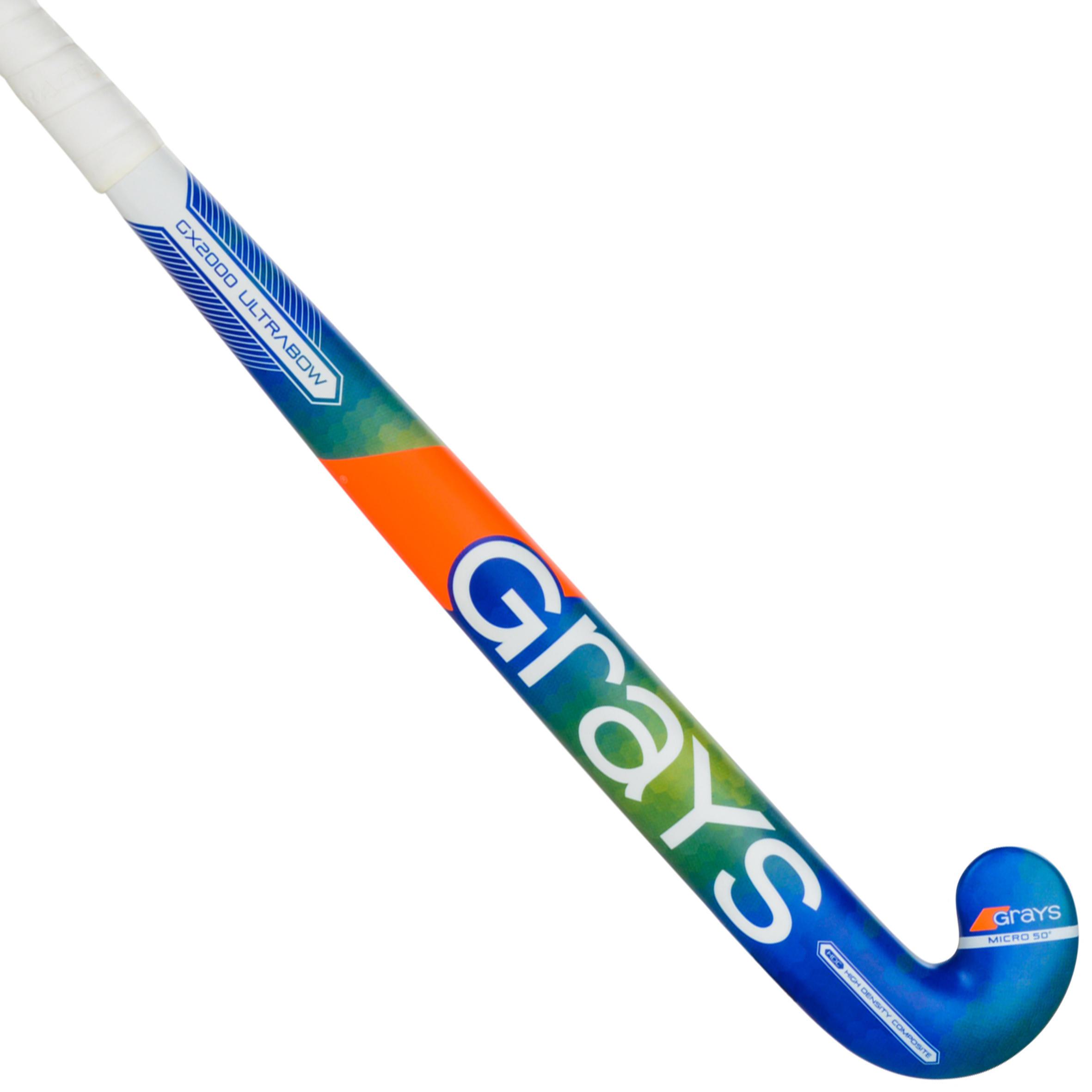 Grays Hockeystick hout-glasvezel volwassenen GX2000 groen/blauw 36.5