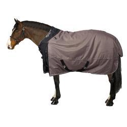 Waterdichte outdoordeken ruitersport Allweather 300 1000D bruin - paard en pony