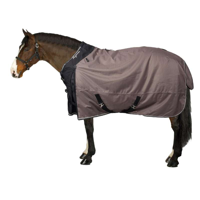 COLD WEATHER TURNOUT RUGS Horse Riding - Allweather 300 1000D Rug Brown FOUGANZA - Saddlery and Tack
