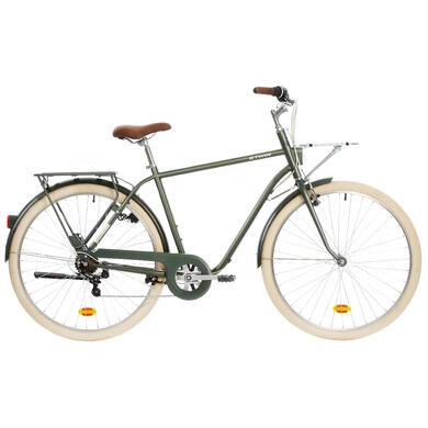 elops 900 city bike grey town bikes. Black Bedroom Furniture Sets. Home Design Ideas