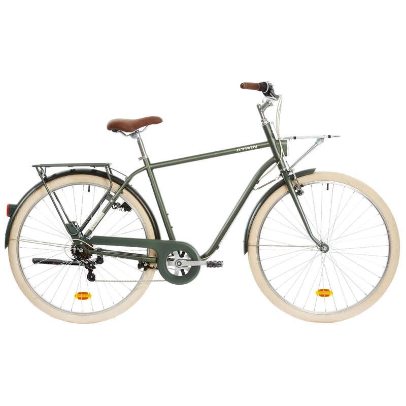 KLASSISKA CITYCYKLAR - Citycykel hög ram ELOPS 520 B'TWIN