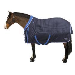 Manta de cuadra equitación caballo y poni ST400 azul marino