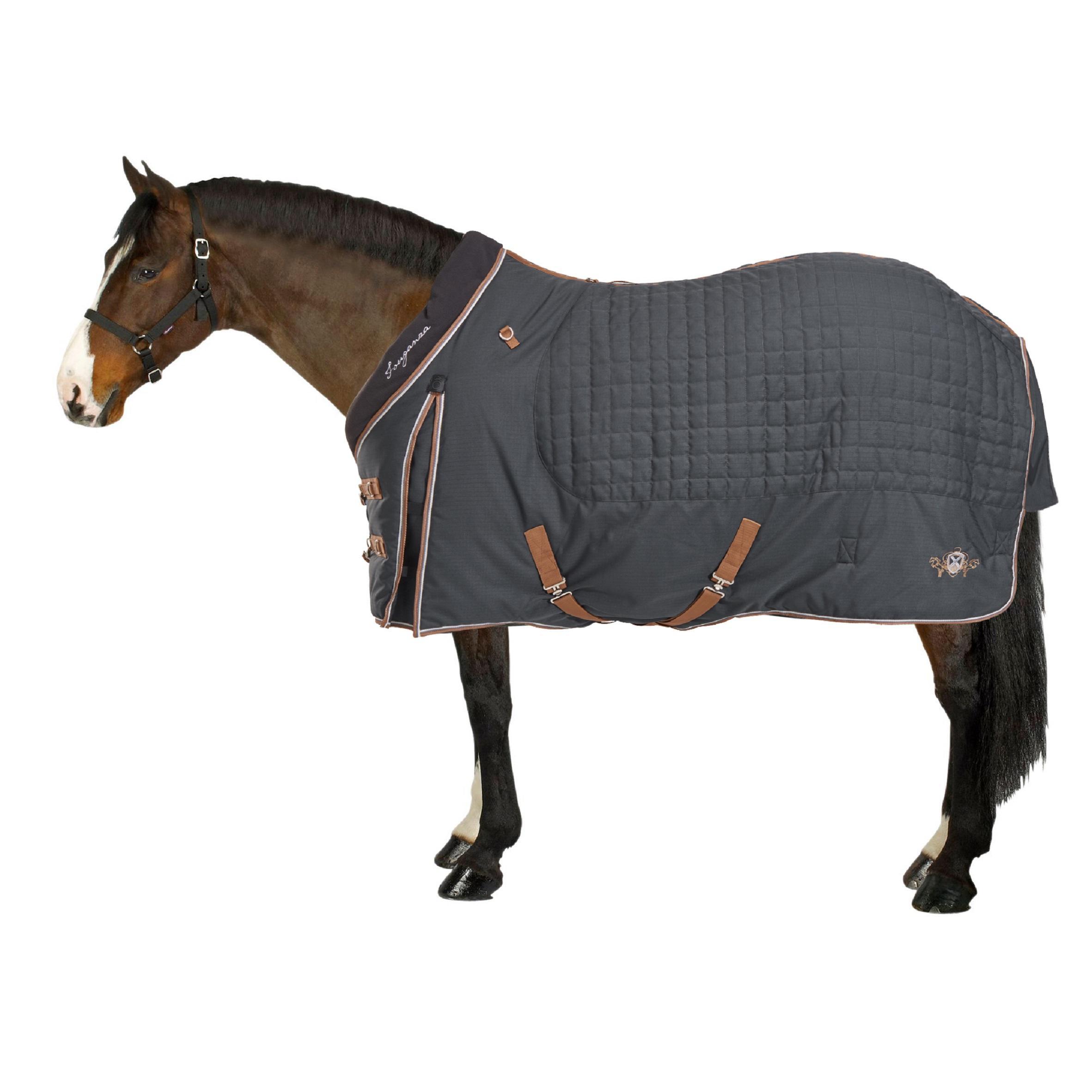 Couverture écurie équitation cheval et poney ST400 gris foncé