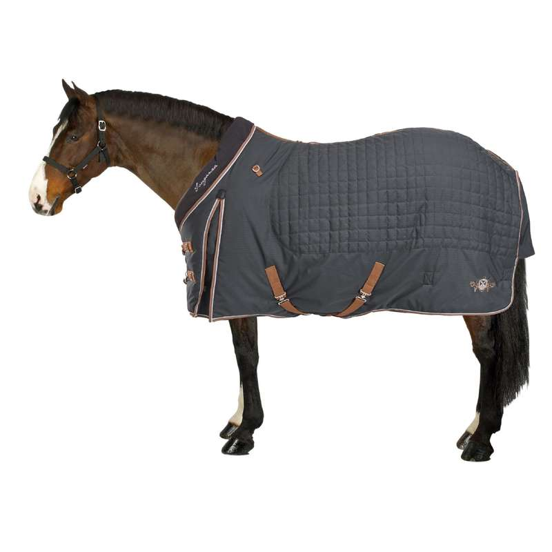 CW STABLE SHEET Horse Riding - ST400 - Dark Grey FOUGANZA - Saddlery and Tack