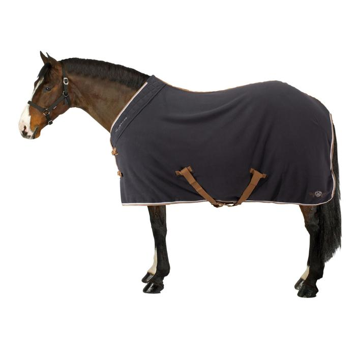 Chemise d'écurie équitation poney et cheval POLAR 500 gris foncé - 1212795
