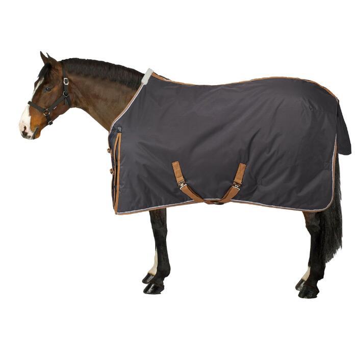 Couverture écurie équitation cheval et poney INDOOR 200 gris foncé - 1212884