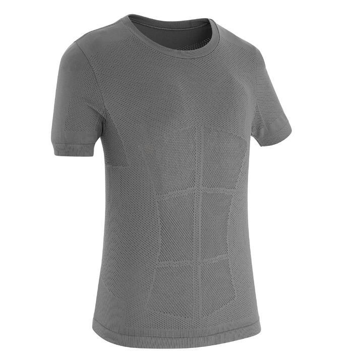 Langlaufshirt voor kinderen grijs