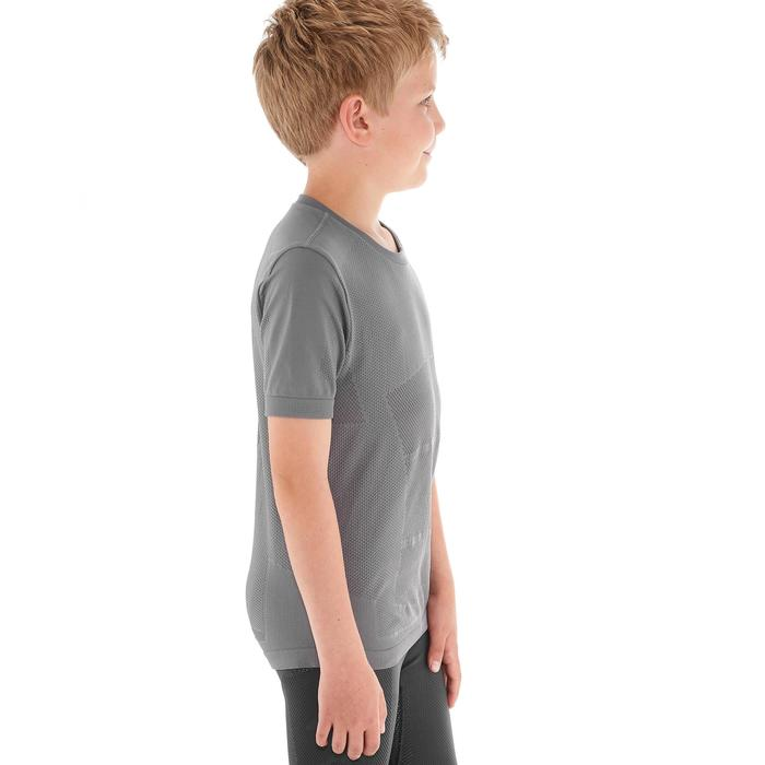 Tee shirt ski de fond junior gris - 1212963