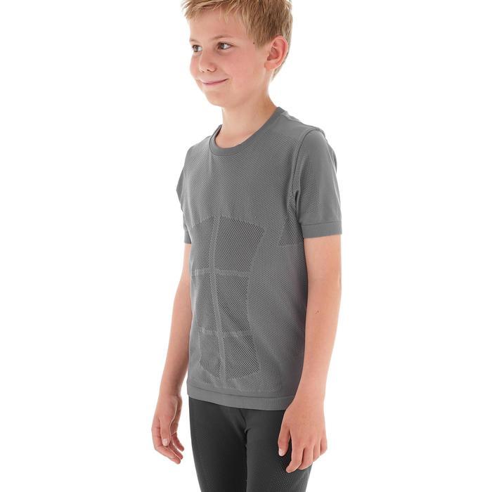 Tee shirt ski de fond junior gris