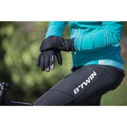 Fietshandschoenen RR500 zwart - winter