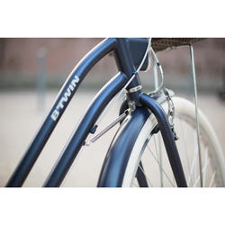 "City Bike 28"" Elops 520 LF Damen blau"