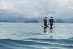 Traje de snorkel 100 hombre azul