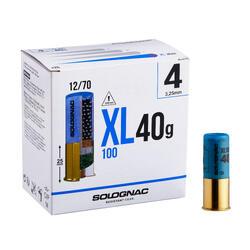 CARTUCHO XL100 40 g CALIBRE 12/70 PERDIGÓN N.° 4 X25
