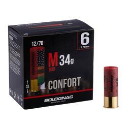 CARTOUCHE M900 34g CONFORT CALIBRE 12/70 PLOMB N°6 X25