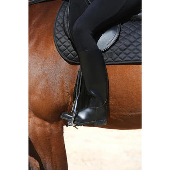 Schooling Adult Horse Riding Long Boots - Black