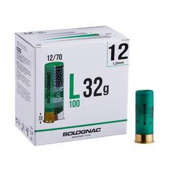 CARTUCHO L100 32 g CALIBRE 12/70 PERDIGONES N°12 X25