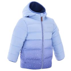 Girl's mauve X-Warm hiking padded jacket