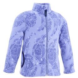 Hike 150 Girls' Hiking Fleece Jacket - Pale Pink