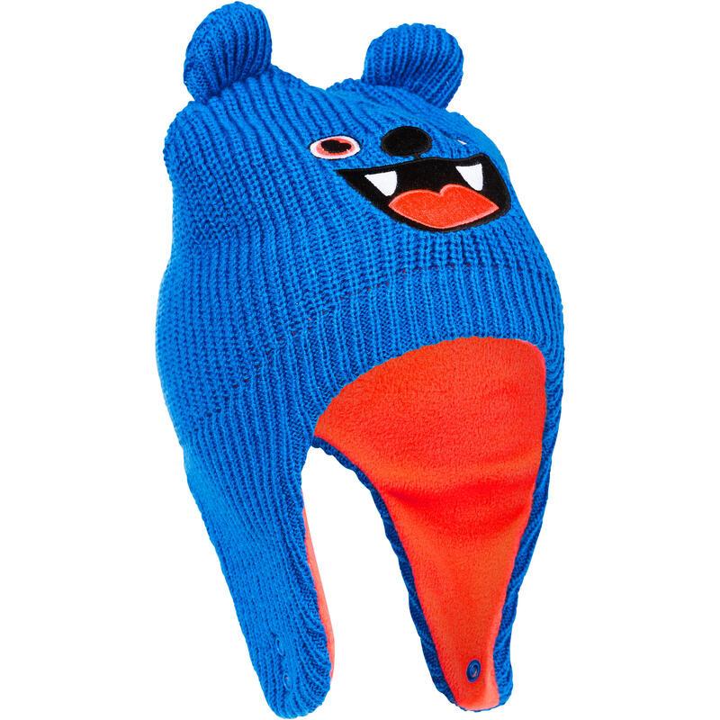 Bonnet bébé de ski / luge WARM bleu