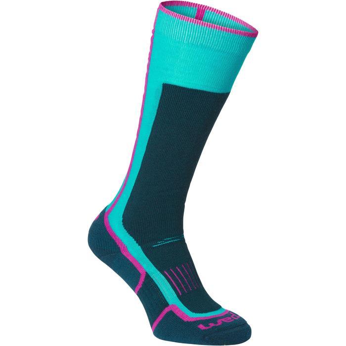 Skisokken 300 voor heren/dames blauw en roze