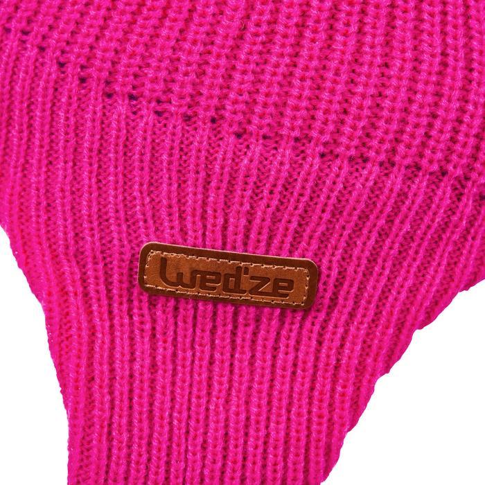 Bonnet de ski / luge bébé warm rose et turquoise