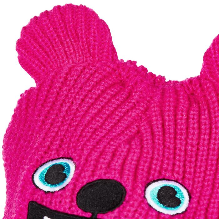 Babies' Skiing/Sledging Hat Warm - Pink and turquoise