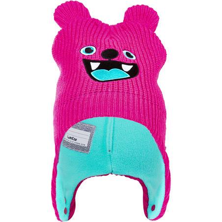 Tuque de ski Luge chaude - rose et turquoise - Bébé