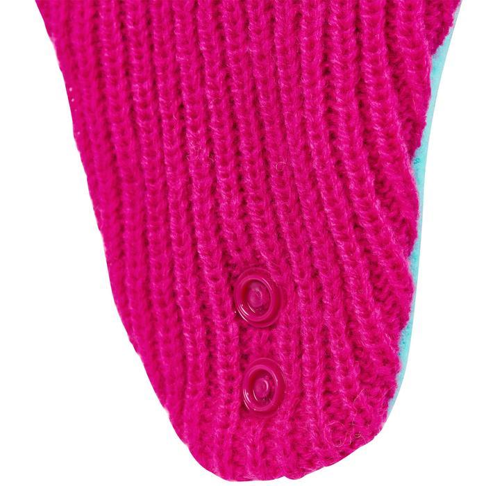 Skimütze warm Baby rosa/türkis