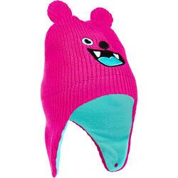 嬰幼兒滑雪/雪橇帽Warm - 粉色與藍綠色
