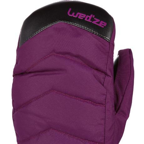 moufles de ski de piste homme femme moufle slide 300 violet wedze. Black Bedroom Furniture Sets. Home Design Ideas