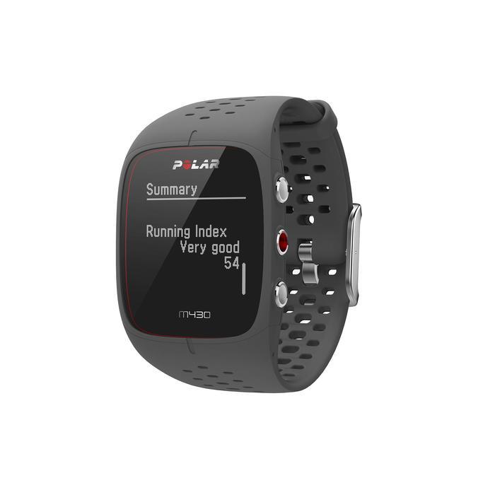 MONTRE GPS RUNNING CARDIO POIGNET M430 grise - 1213808