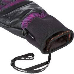 GUANTES DE SNOWBOARD FREESTYLE, HOMBRE MUJER, GUANTES FREE 700 VIOLETA GRIS