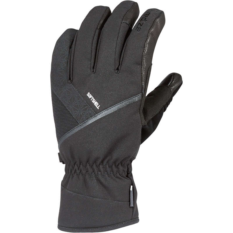 ADULT ON PISTE SKIING GLOVES Skiing - ADULT D-SKI GLOVES 500 - BLACK WEDZE - Ski Wear