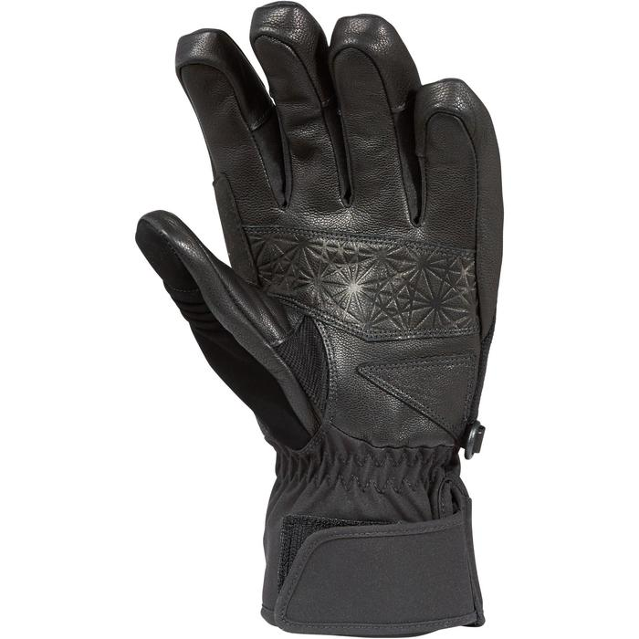 ADULT SKI GLOVES 500 - BLACK