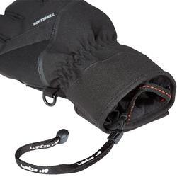 成人滑雪手套500 - 黑色