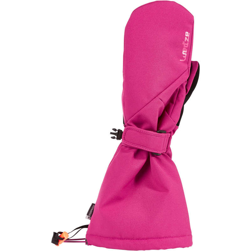 GUANTI SCI JUNIOR Sci, Sport Invernali - Muffole bambina 500 rosa WEDZE - Abbigliamento sci freeride