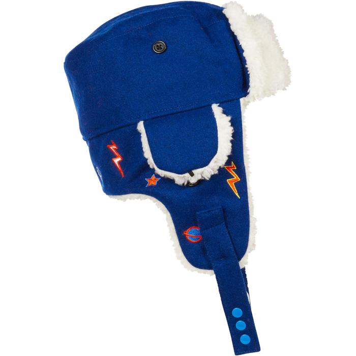 KID'S SKIING USHANKA - BLUE