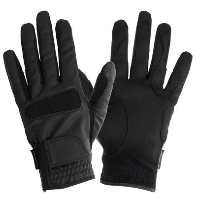 Grippy Women's Horse Riding Gloves - Black